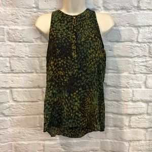 A.L.C Geometric Sleeveless 100% Silk Blouse